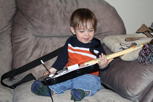 Playing Rock Band!