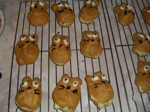 Totoro cream puffs by xanthsig, Created/posted on 4/23/2009
