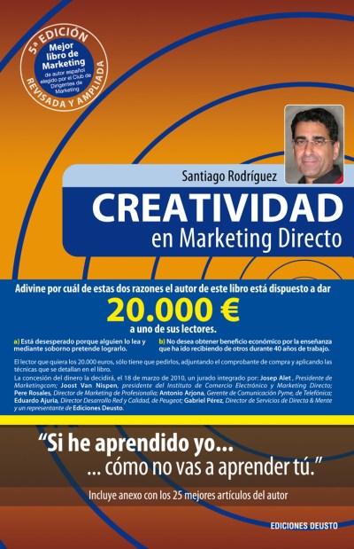 CREATIVIDAD EN MARKETING DIRECTO: UN LIBRO QUE LLEVA 20.000 € EN SU INTERIOR