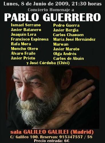 Cartel homenaje a Pablo Guerrero