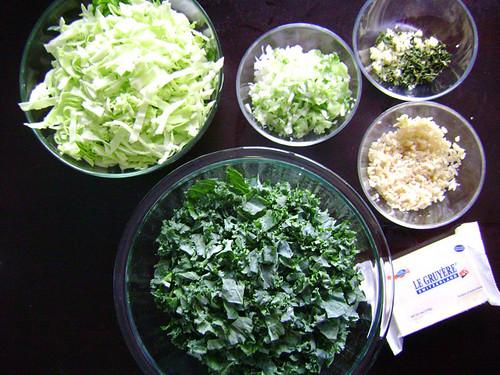 Provençal Kale and Cabbage Gratin