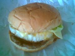 Sugar Bun's cheese burger with egg 1