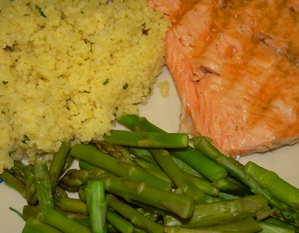 Salmon, Asparagus and Couscous