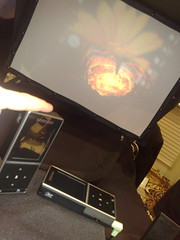 phone projector showing kung fu panda by LJRich