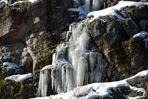 Icicles or ice falls