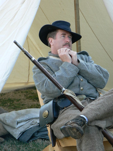 Living History Day - Soldier with Harmonica