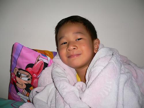 Samuel in a blanket