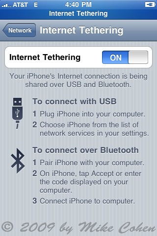 iPhone Tethering!