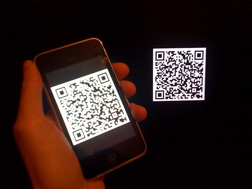 vCard QR code on iTouch and iMac