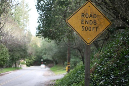 Road Ends 500 Feet