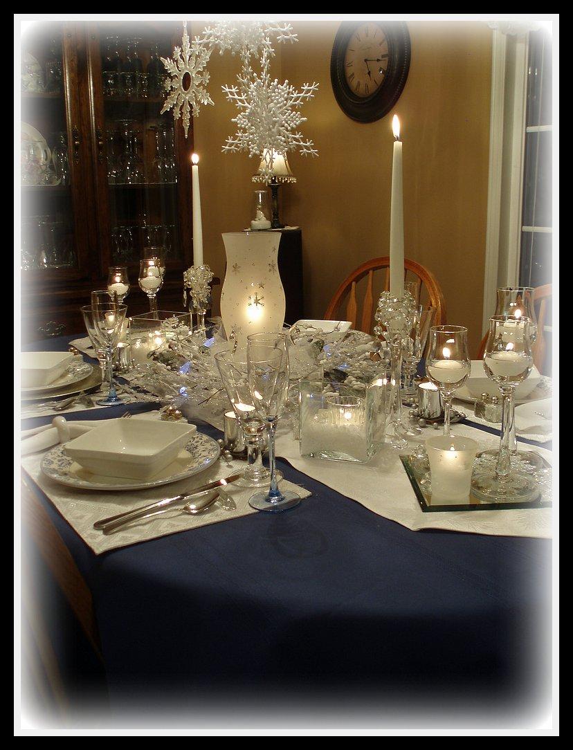 Dining Delight Winter Blue Amp White