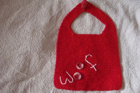 FO - Red Woof Bib