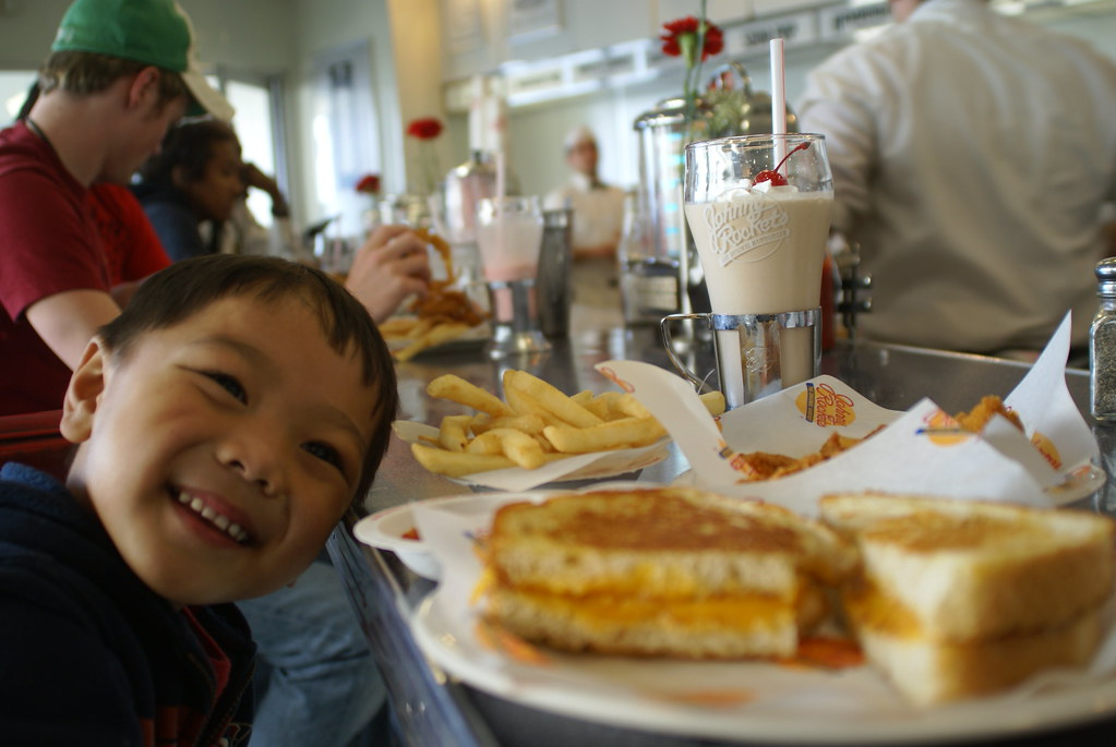 our snack at Johnny Rockets