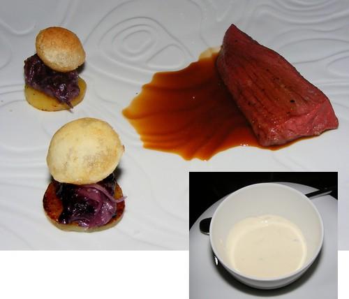 Simmenthaler ossenhaas met kummel en radicchio bij restaurant Ivy