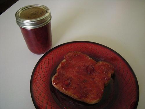 Rhubarb and Cherry Jam