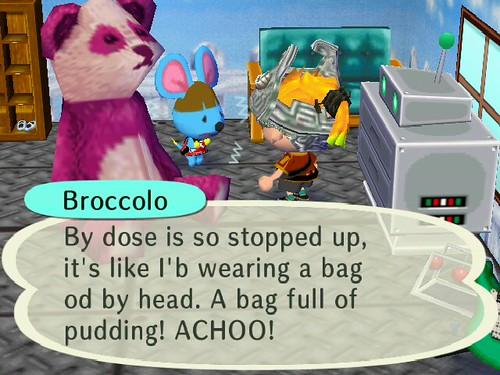 Poor Broccolo is sick!