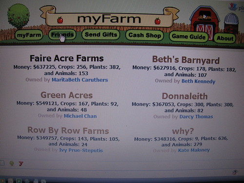 Top of the Farm List