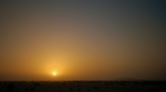 Sunset in Omani desert
