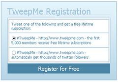 TweepMe: No. 1 Twitter Spam Generator