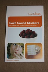 carb counting stickers