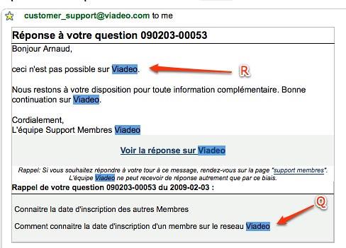 Gmail - réponse à votre question 090203-00053 - arnaud.velten@gmail.com by you.