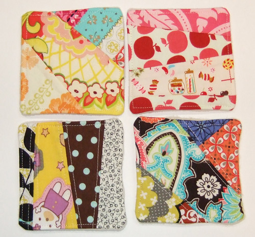 Finished Crazy Quilting Coasters by you.