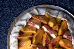 nectarine-almond tart, ready to bake