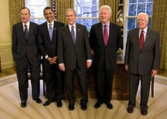 2009 Five Presidents, President George W. Bush...