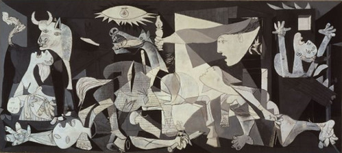 http://en.wikipedia.org/wiki/File:PicassoGuernica.jpg