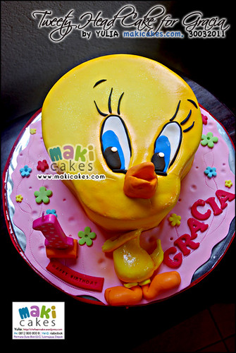 Tweety Head Cake for Gracia - Maki Cakes