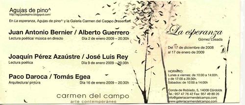 Charlas organizadas por Miguel Gomez Losada en Carmen del Campo.