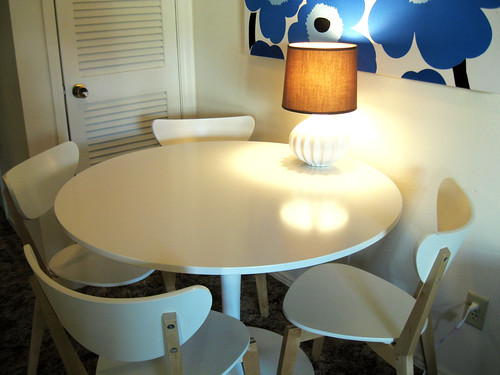 An unusually clean dining table.
