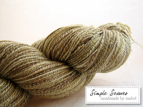 Handspun Merino-Tencel in Green Tea