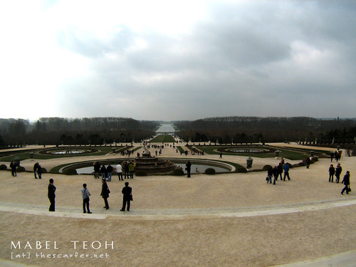 From the pond/Château, a view of the gardens...