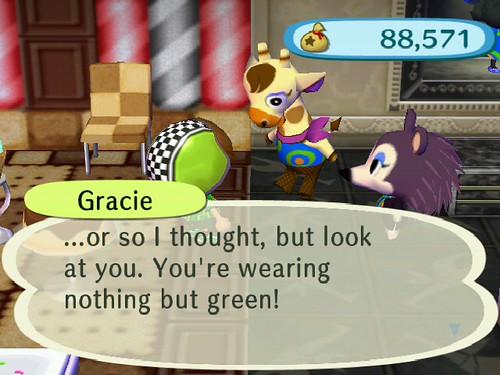 Gracies not impressed.