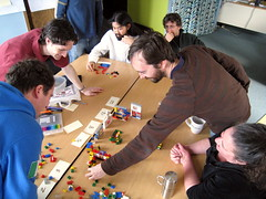 Demo during Lego Scrum simulation. Everything goes better with Lego.
