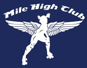 Logo of roller derby team The Mile High Club