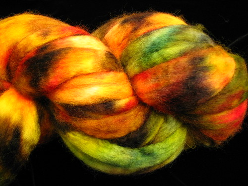 Autumn Blend Hand Dyed BFL Wool Top Roving