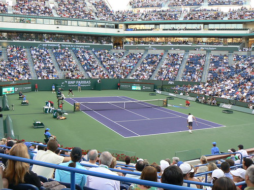 Great stadium at Indian Wells