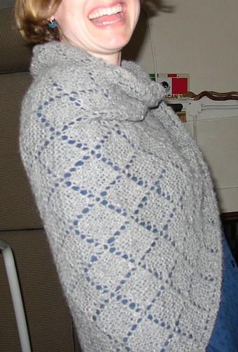 alpaca shawl happy
