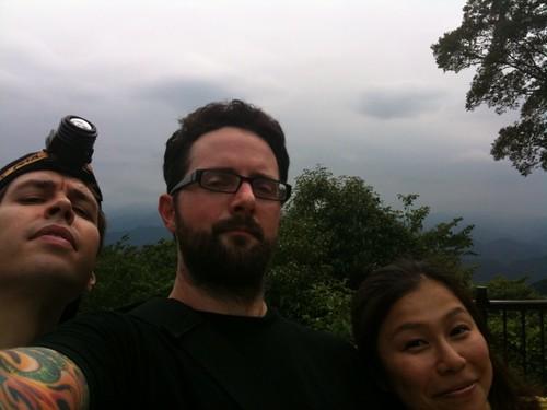 Matt, me & hiroko on top of the mountain