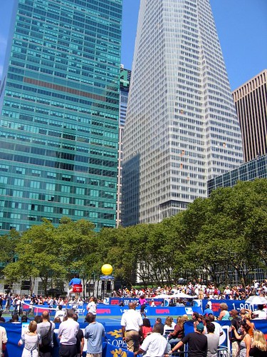 US Open in Bryant Park.
