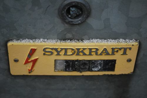 The old electric board of the south of Sweden