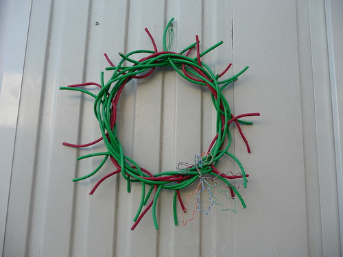 Christmas Wreath made from Cat5 Cable