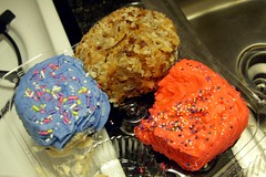 Cupcakes from Elenis from Jenny make a PERFECT late night birthday snack!