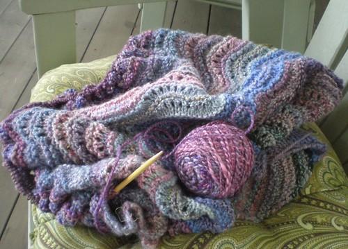 Cosy comfort shawl