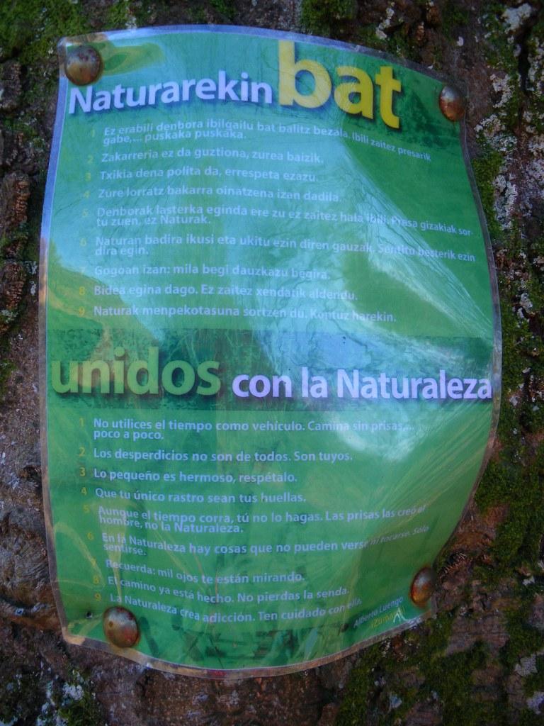 Naturarekin bat - Unidos con la naturaleza
