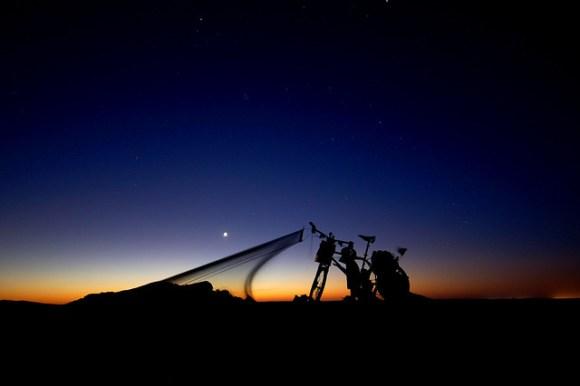 Sleeping under the Saharan stars