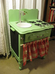 Vintage Looking Play Kitchen