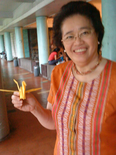 Paper Crane #3 | University of the Philippines President Emerlinda Roman